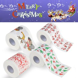 $enCountryForm.capitalKeyWord Canada - Christmas Pattern Toilet Paper Roll Fashion Funny Humour Gag Xmas Decoration Gifts 5 style Free DHL WX9-167