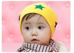 Crochet Baby Star Australia - New Korean boy girl caps kid pentagram hat baby Big star Baotou knitting hat Accessories free shipping