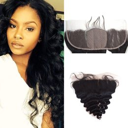 Way part lace frontal online shopping - G EASY Silk Base Full Frontal Lace Closure x4 Malaysian Loose Wave Lace Frontal Closure Free Middle Three Way Part Ear To Ear Lace Frontal