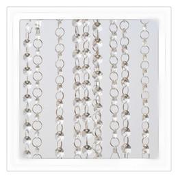 $enCountryForm.capitalKeyWord UK - Fashion Crystal Curtains Wedding Beads Chain Transparent Crystal Octagonal Clear Acrylic Bead Garland Chains Wedding Chandelier Decoration
