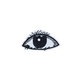 Wholesale eye embroidery patch resale online - 10PCS Black Eye Patches for Clothing Iron on Transfer Applique Patch for Bags DIY Sew on Embroidery Badge