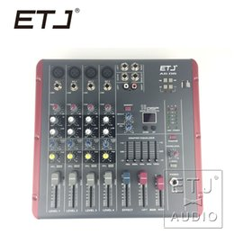mixer brands NZ - ETJ Brand 16 DSP 4 Channel Ultra low noise Audio Mixer 48V Phantom Power Supply AG06 Bluetooth