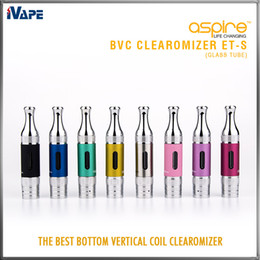 aspire ets bvc atomizers Canada - Aspire ET-S Clearomizer 3ml Glass Tube ETS BVC BDC E Electronic Cigarettes Atomizer ET-S Glassomizer with BVC BDC Replaceable Coil Available