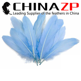 Dyed Goose Feathers Wholesale Canada - Leading Supplier CHINAZP Crafts Factory 10~15cm(4~6inch) Length Fantastic Fluffy Light Blue Goose Loose Feather for Halloween Party