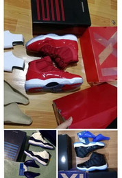 Hielo Satinado Baratos-Win Like 82 Ice Blue UNC Gimnasio Red Space Jam 11s Midnight Navy AAA calidad Zapatillas al por mayor Retro 11 Zapatillas de baloncesto con caja
