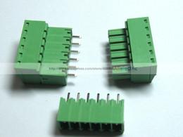 Connector Block Way Canada - 50 Pcs lot 3.5mm 6 Pin Way Green Plable Type Screw Terminal Block Connector