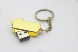 Usb pen drive logo online shopping - Swivel metal Key USB Flash Drive GB GB Memory Stick USB Pen Drives custom logo YO0 Retail package free DHL