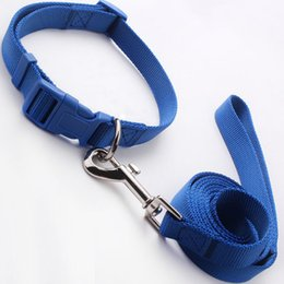 wholesale dog collars leash Canada - Hot selling Fashionable Nylon Dog collar Powerful Pet chains Dog leashes Pet collar Durable Dog Application in 3 different sizes