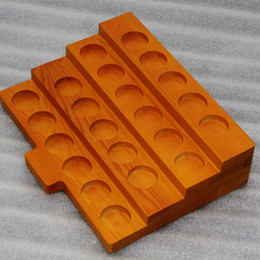 $enCountryForm.capitalKeyWord NZ - 3 Styles Wooden Display Showcase Stands Wood Shelf Case Rack For 30ML E-Juice E-Liquid Bottles RDA Atomizer 510 810 Drip tip Mouthpiece Tank