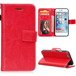 $enCountryForm.capitalKeyWord Canada - High Quality Double Folds Crazy Horse Flip Leather Wallet Case With Strap Holder Cover for iphone6 4.7 5.5 inch plus
