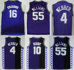 ... For Sport Throwback White Chocolate55 Jason Williams Basketball Jerseys  Kings4 Chirs Webber 16 Peja Stojakovic 10 Mike Bibby ... a346fcc7a