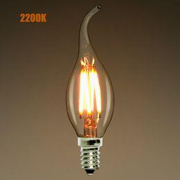 $enCountryForm.capitalKeyWord Canada - Dimmable,E12 E14,2W 4W 6W LED Filament Candelabra Light Bulb,2200K(warm yellow),Chandelier Flame Tip,110-240VAC,Retro Lamp