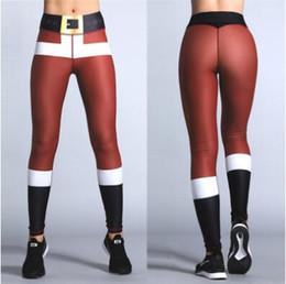 c927dba987 Christmas 3D Printing Leggings Women Santa Claus Pattern Stretchy Sport  Trousers Casual Yoga Pencil Pants CCA8370 20pcs