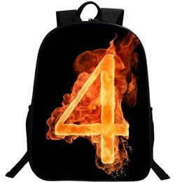 online shopping 4 lucky number backpack Street style daypack Fire show schoolbag Photo rucksack Sport school bag Outdoor day pack