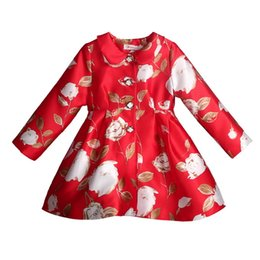 $enCountryForm.capitalKeyWord Canada - Pettigirl Retail New Arrivals Girls Autumn Coats With Flowes Long Sleeve Spring Kids Suit Wholesale Children Clothes OC80924-69W