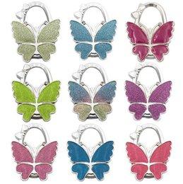 Бабочка сумка складной мешок кошелек крюк Главная крючки Вешалка держатель для подарка Жук замок Bling 7*5.3*1 см
