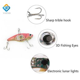 Discount led fishing lure 10Pcs Stylish Fish Attractors New Shape Underwater Deep Drop Fishing TOPIND Light Bait Fish Lure Light LED Flashing Lamp