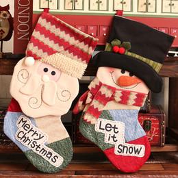 Funny Christmas Socks Canada - Kukucos Christmas High-end Gift Socks Mall Hotel Home Decoration Socks Gift Bag Dress up Layout Supplies