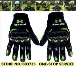 XXl motorbike gloves online shopping - Kawasaki brand Motorcycle Glove Motorbike Full Finger Cycling Guantes KG02
