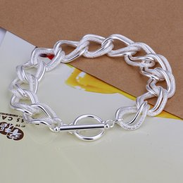 $enCountryForm.capitalKeyWord Canada - Hot sale 925 silver Flash twisting double circle TO bracelet DFMCH290,fashion 925 sterling silver plated Chain link bracelets high grade