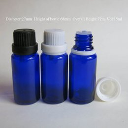 $enCountryForm.capitalKeyWord NZ - wholesale Retail 10pcs lot 15ML Blue Glass Packing Bottles, Essential Oil With Screw On Cap, Reducer Bottles