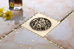 $enCountryForm.capitalKeyWord Canada - Brass Color Square Floor Drain Shower Waste Water Strainer FD-1001