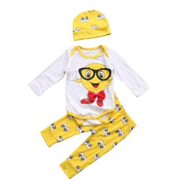 kids romper pattern 2019 - Newborn Baby Clothes Newest Cute Boys Girls Outfit Cartoon Pattern Romper Jumpsuit with Matching Long Pants Hat 3PCS Kid