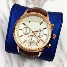 marca genuine leather NZ - Top Fashion Men watch Genuine leather Relojes De Marca Mujer Auto date High quality hot sale Business Male Quartz Classic watches