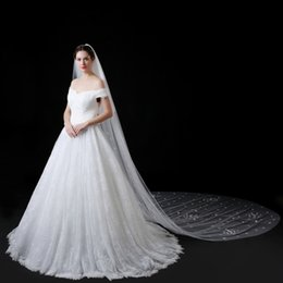 New Pattern Wedding Veil Concise Princess Flower Petal Monolayer Long The Tailing Overlength