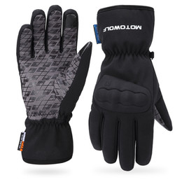 normal mobile phone 2019 - Motorcycle extra thick and plush warm winter glove waterproof rider's mobile phone touch screen full of cotton glov
