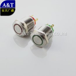 IllumInated 12v push button online shopping - 150pcs mm Momentary angel eye ring v v Illuminated Metal anti vandal Push Button Switch with Flat Actuator DHL
