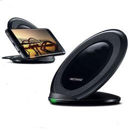 Toptan satış Qi Hızlı Kablosuz Şarj Qi Kablosuz Şarj Standı Dock Samsung Galaxy S8 / S8 Artı / S7 / S7 Kenar Artı Perakende Paketi Ile
