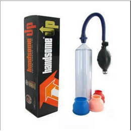 Wholesale 2015 Handsome Up Powerful Vacuum Penis Pump Male Penis Enhancement Enlargement Sex Toys Sex Adult Products Pumps Toys MF110903