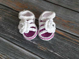 $enCountryForm.capitalKeyWord Australia - Baby Sandals Crochet Baby Girl Sandals Infant Girl Shoes Baby Girl Shower Gift Newborn rose Sandals Flower Booties 0-12M customize
