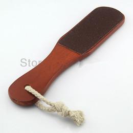 $enCountryForm.capitalKeyWord Canada - 5pcs lot Wood Handle Double Sided Foot Rasp File Callus Remover Pedicure Tool Nail Art Tools kit free Shipping B101