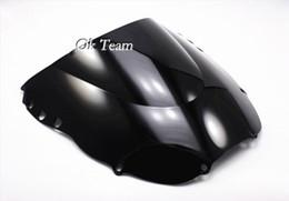 Опт Бесплатная доставка высокое качество двойной пузырь ветрового стекла лобовое стекло для Honda CBR900RR 919 98-99 1998-1999 Черный/прозрачный/синий