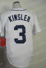 25c658f94 2015 New Mens Baseball Jerseys Detroit #3 Lan Kinsler Jersey White Home  Color Cool Base Jersey Stitched, mix orders!