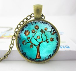 Animal Handmade Canada - Wholesale Copper Tree Necklace Pendant.Charms Art. Picture Pendant. Copper Jewelry. Handmade Jewelry Tree Necklace women