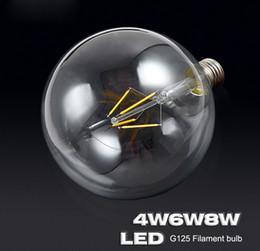 E27 tungstEn lamp online shopping - Ceramics subtrate G125 Tungsten LED Lamp Filament Light Bulb Edison Style E27 v V Degree Glass for Home Lighting Edison bulb