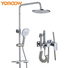 Stainless Steel Baby Shower Bathroom Shower Set Copper Brass Chrome Wall  Mounted Bidet Handheld Head Bathroom Basin Mixer S5010