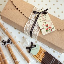 wedding cake small boxes NZ - Kraft Paper Scalloped Small Box - Wedding  Party Favor - Soap  Cake  Macaron  Cookie Packaging - Gift Box