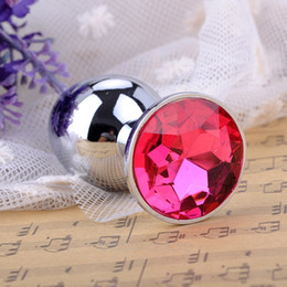 sex crystal balls Canada - Small Size Mini Butt Anal Plug Toys Alloy Crystal Jewelry Sex Toys Adult Sex Products 25JYP0042
