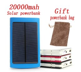 Solar Power Bank For Phone Canada - 2017 energy Solar Power Bank 120000mah solar panel Middle East Hot sale Charging Battery can sun and usb charing For all phone