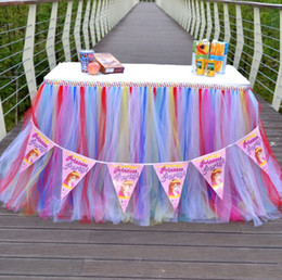 Discount Tutu Decorations For Baby Shower Wedding Tulle Tutu Table Skirt  Colors Birthdays Dessert Station Skirt