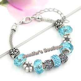 $enCountryForm.capitalKeyWord Canada - 3 Colors New Arrival Fashion Jewelry European Bead Charms CZ Pave Disco Ball Leaf Bead Flower Bracelets for Spring Summer Jewelry Wholesaler