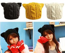 $enCountryForm.capitalKeyWord Canada - Lady Girls Winter Warm Knitting Wool Cat Ear Beanie Ski Hat Cap