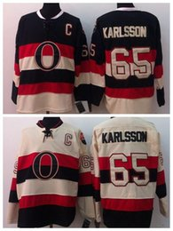 $enCountryForm.capitalKeyWord Canada - Men's #65 Erik Karlsson Jersey Ottawa Hockey Jerseys Cream Black 2014 Heritage Classic Erik Karlsson Stitched Jerseys C Patch