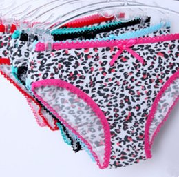 Barato Lingerie Leopardo Quente-Hot Women's Lace Leopard Hipster Panties Briefs Bikini Knickers Lingerie Roupa interior Lady Cotton Thong T Pants