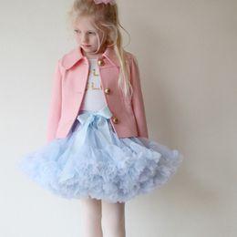 $enCountryForm.capitalKeyWord NZ - 0-10T Baby Girls Tutu Skirts Bow Gauze Fluffy Pettiskirts Tutu Princess Party Skirts Ballet Dance Wear 28 Colors High Quality