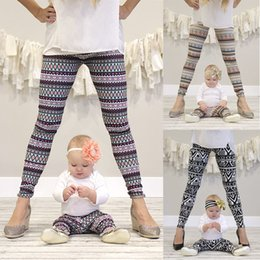 Knit Fabric Prints Canada - Baby Girl Moms' Family Legging Tighter Jacquard Printing Knitting Fabric Cotton 4 Sizes Kids 5 Sizes Mother Tight Pants 1-12T